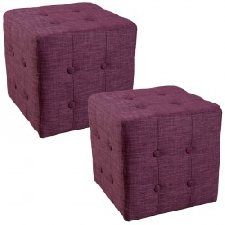 Duo de Poufs Prune - CATHY n°1