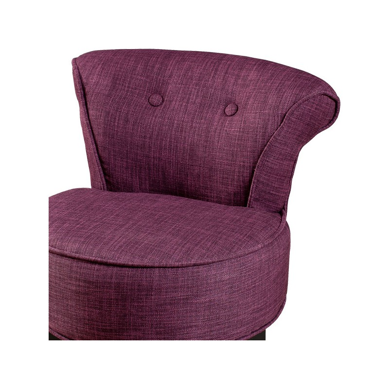 Fauteuil prune polyester cathy univers salon - Fauteuil crapaud prune ...