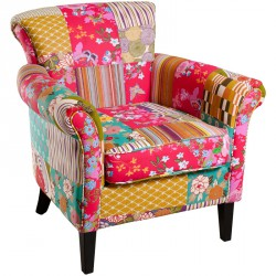 Fauteuil Patchwork - CATHY