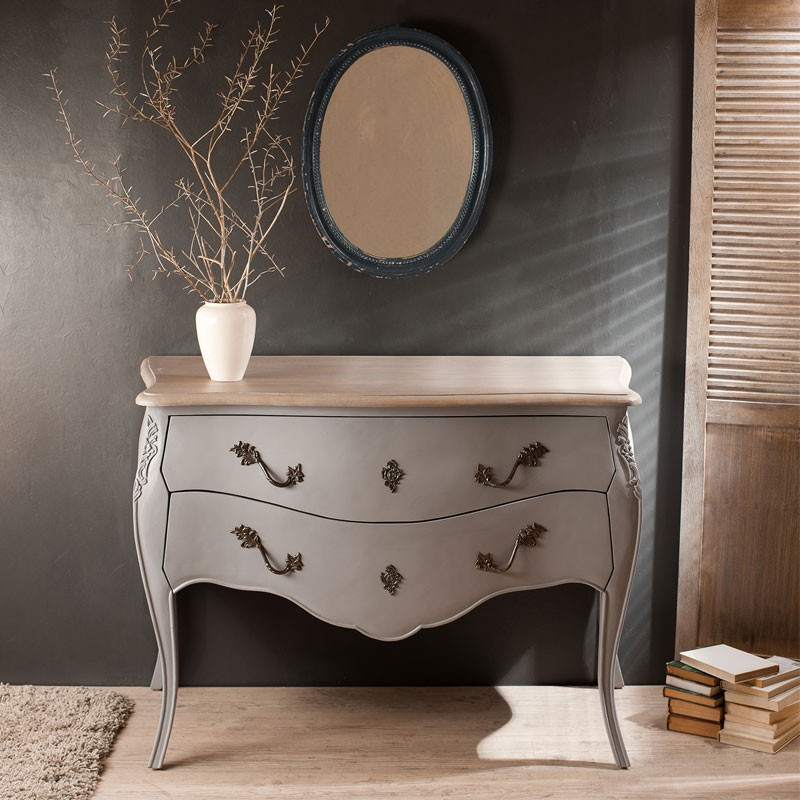 commode 2 tiroirs bleu ardoise anabelle n 1 univers. Black Bedroom Furniture Sets. Home Design Ideas