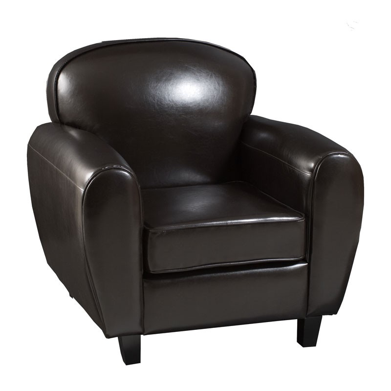 fauteuil club simili cuir meuble de salon contemporain. Black Bedroom Furniture Sets. Home Design Ideas