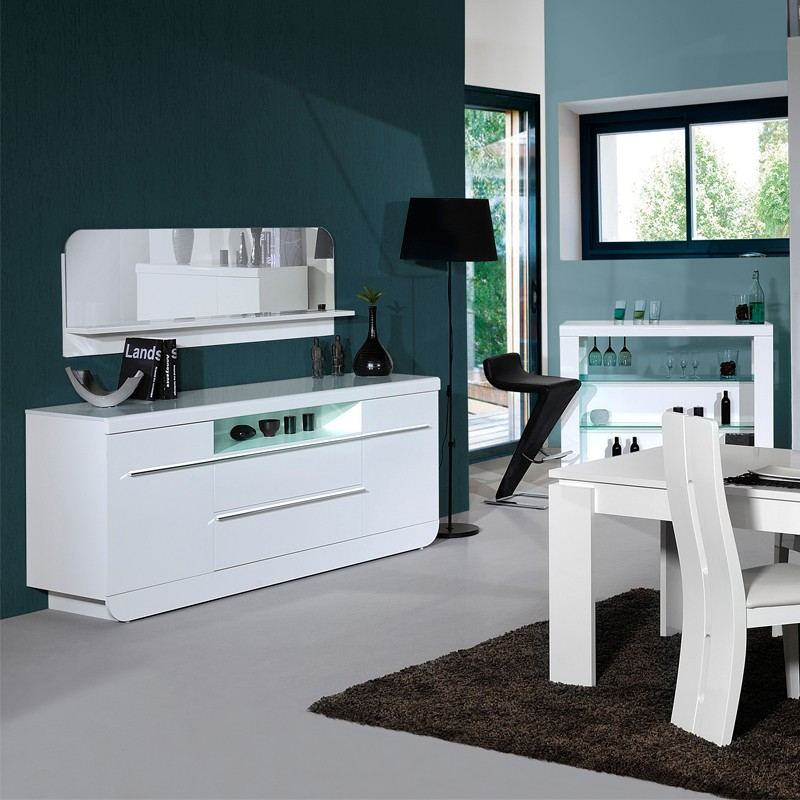 buffet de salle a manger laque blanc bahut portes tiroirs laque blanc fly with buffet de salle. Black Bedroom Furniture Sets. Home Design Ideas