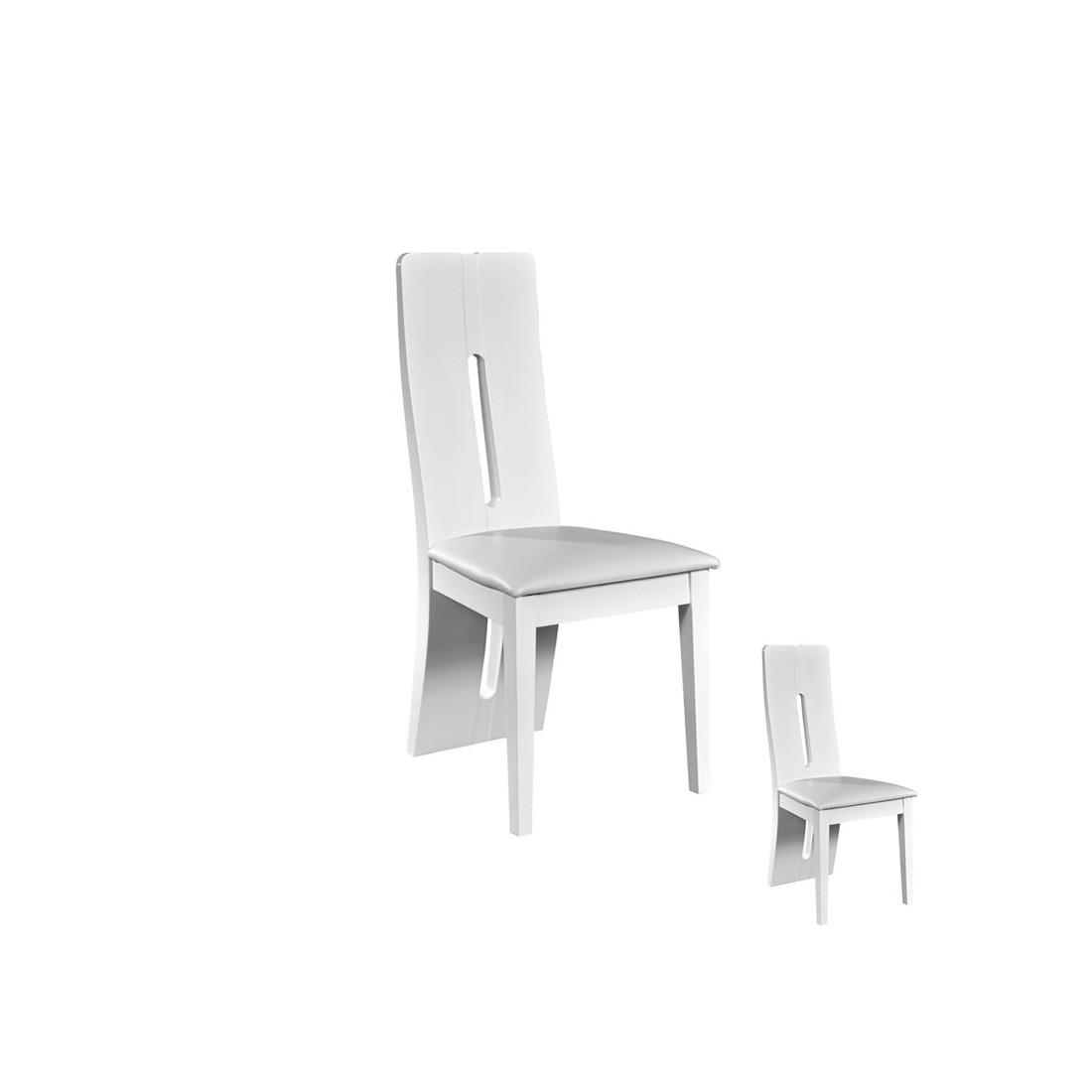 Duo de chaises simili cuir blanc fily univers assises - Chaises simili cuir blanc ...