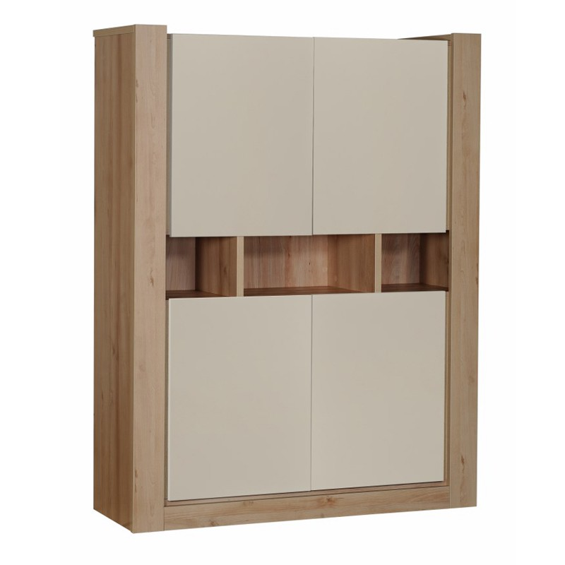 Delightful meuble largeur 25 cm 5 armoire de salon 4 portes blanc for Meuble largeur 25 cm
