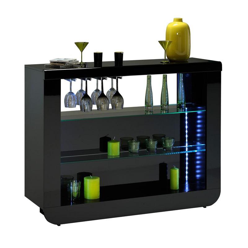 Bar comptoir Noir FILY - Univers Salon : Tousmesmeubles