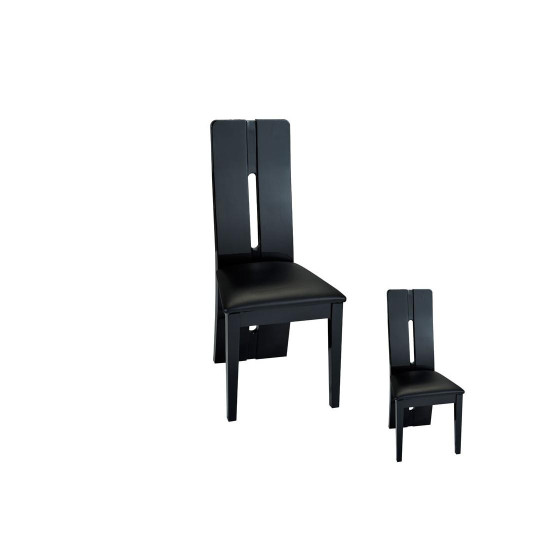 duo de chaises simili cuir noir fily univers assises tousmesmeubles. Black Bedroom Furniture Sets. Home Design Ideas