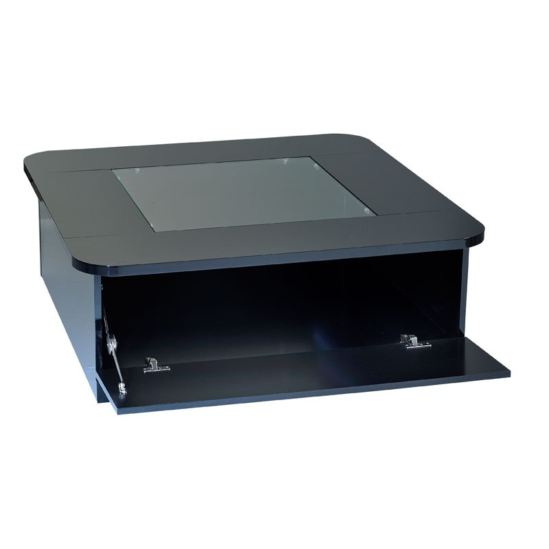 Table basse carree noir but - Table basse brun noir ...