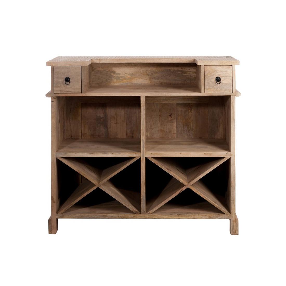 bar en bois factory univers du salon tousmesmeubles. Black Bedroom Furniture Sets. Home Design Ideas