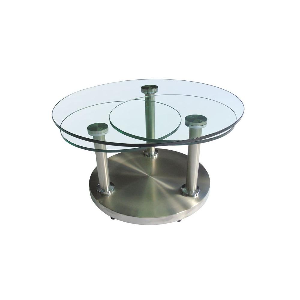 Table Basse Articul E Verre Et M Tal Trygo Univers Salon Tousmesmeubles