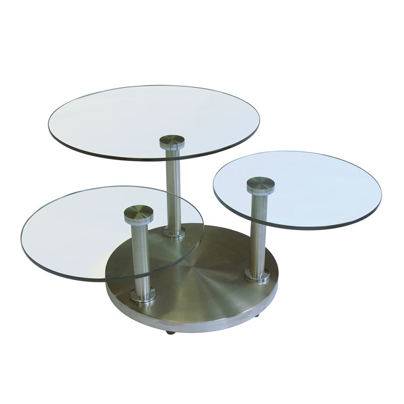 Table basse verre et metal for Table basse verre metal