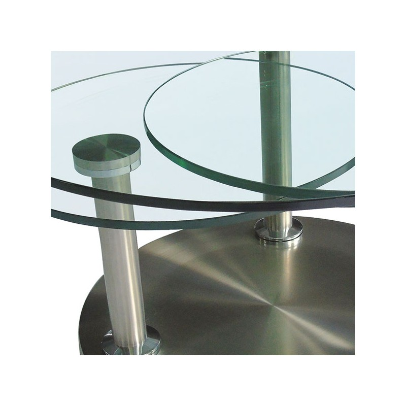 Table basse articul e verre et m tal trygo univers salon tousmesmeubles - Table salon verre trempe ...
