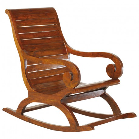 Rocking chair en bois - Univers Salon et Assises : Tousmesmeubles