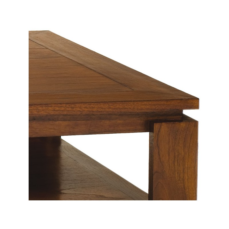 Table basse carree palissandre for Petite table basse carree