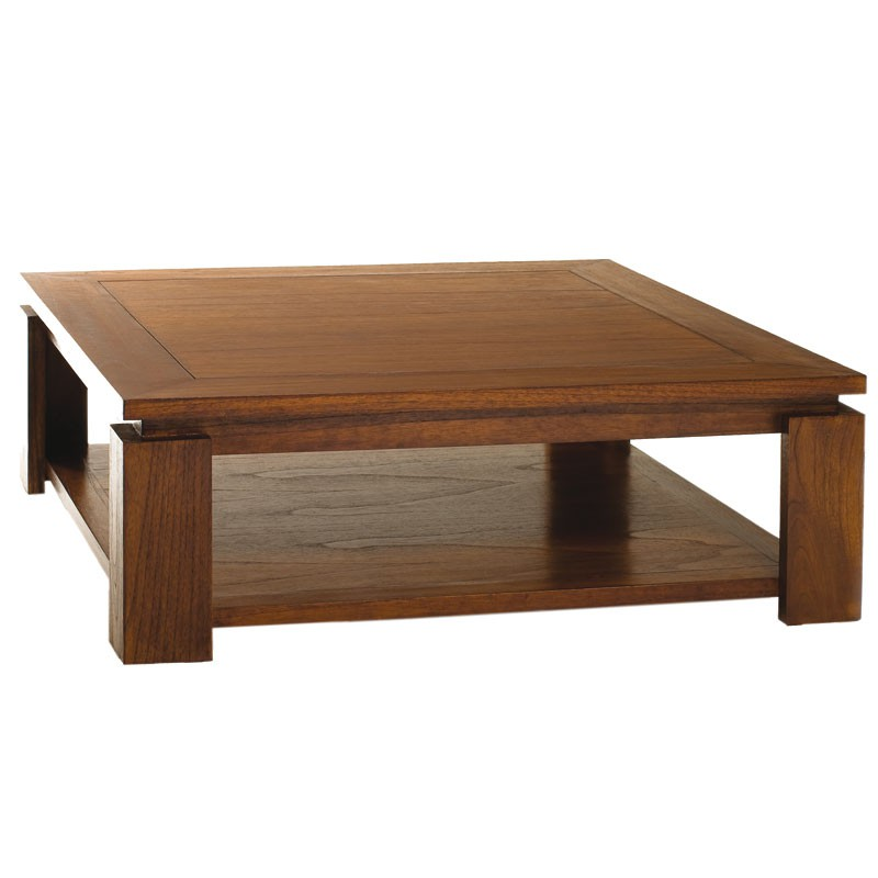 Table basse carr e bois naury univers salon tousmesmeubles for Table basse carree bois