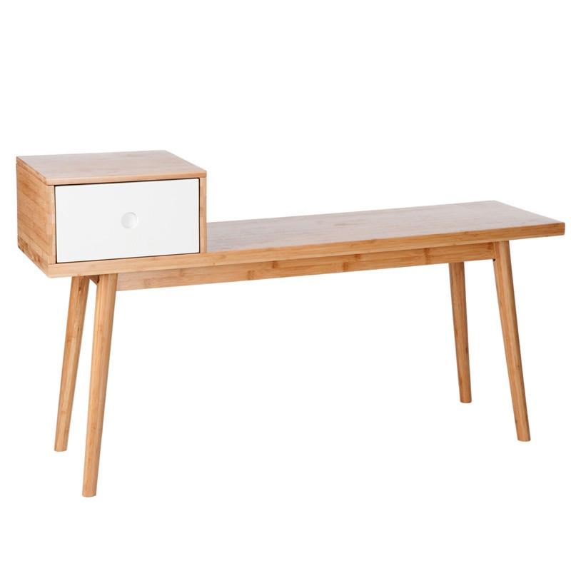1 tiroir vintage bois naturel blanc