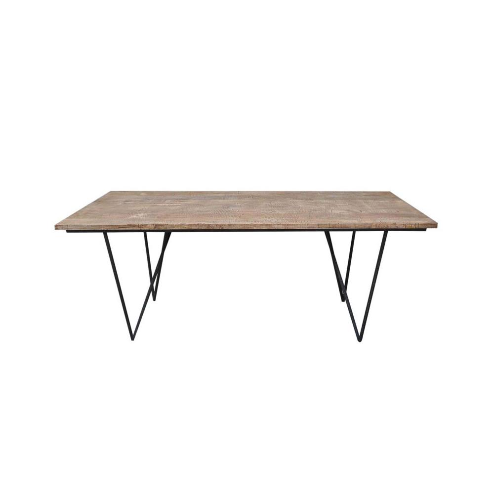 table de repas bois factory univers du salon tousmesmeubles. Black Bedroom Furniture Sets. Home Design Ideas