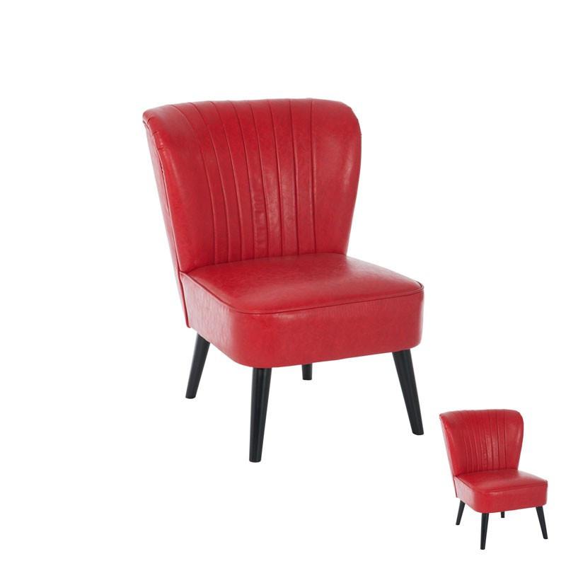 Duo de chaises polyuréthane rouge - Univers Assises : Tousmesmeubles