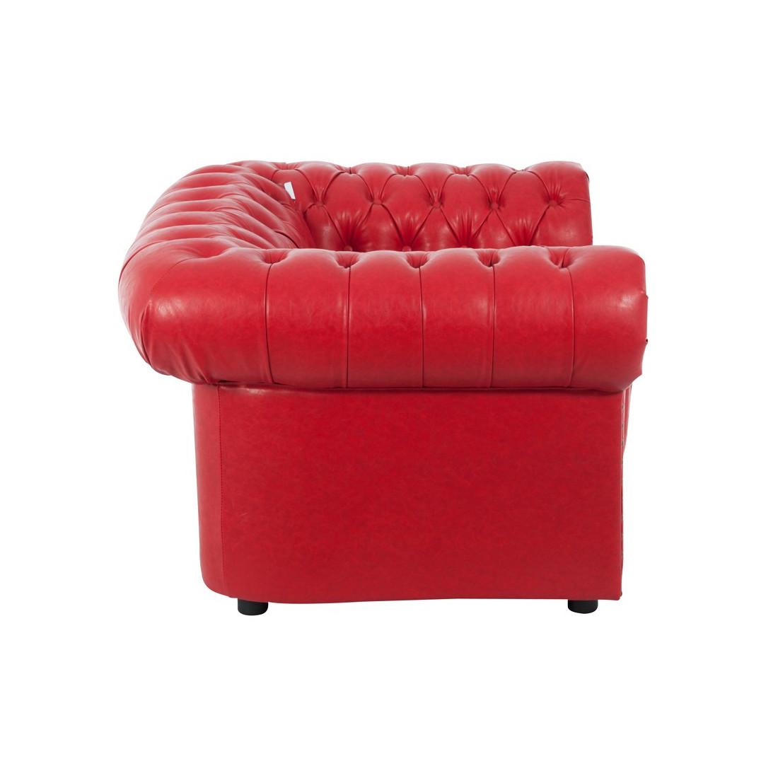 Fauteuil chesterfield buick univers salon et assises tousmesmeubles - Fauteuil chesterfield rouge ...