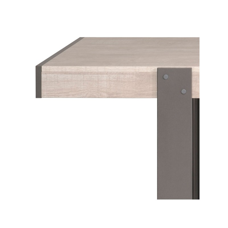 Salle manger compl te bois gris barker univers salle for Table grise salle a manger