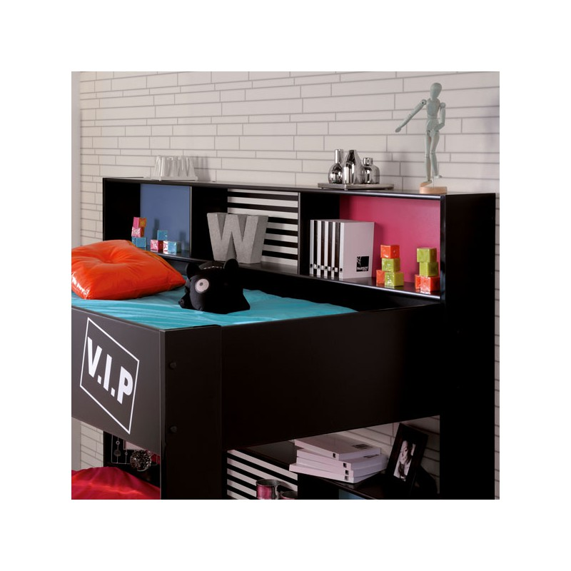 lit superpos enfant llook original noir funny univers chambre. Black Bedroom Furniture Sets. Home Design Ideas