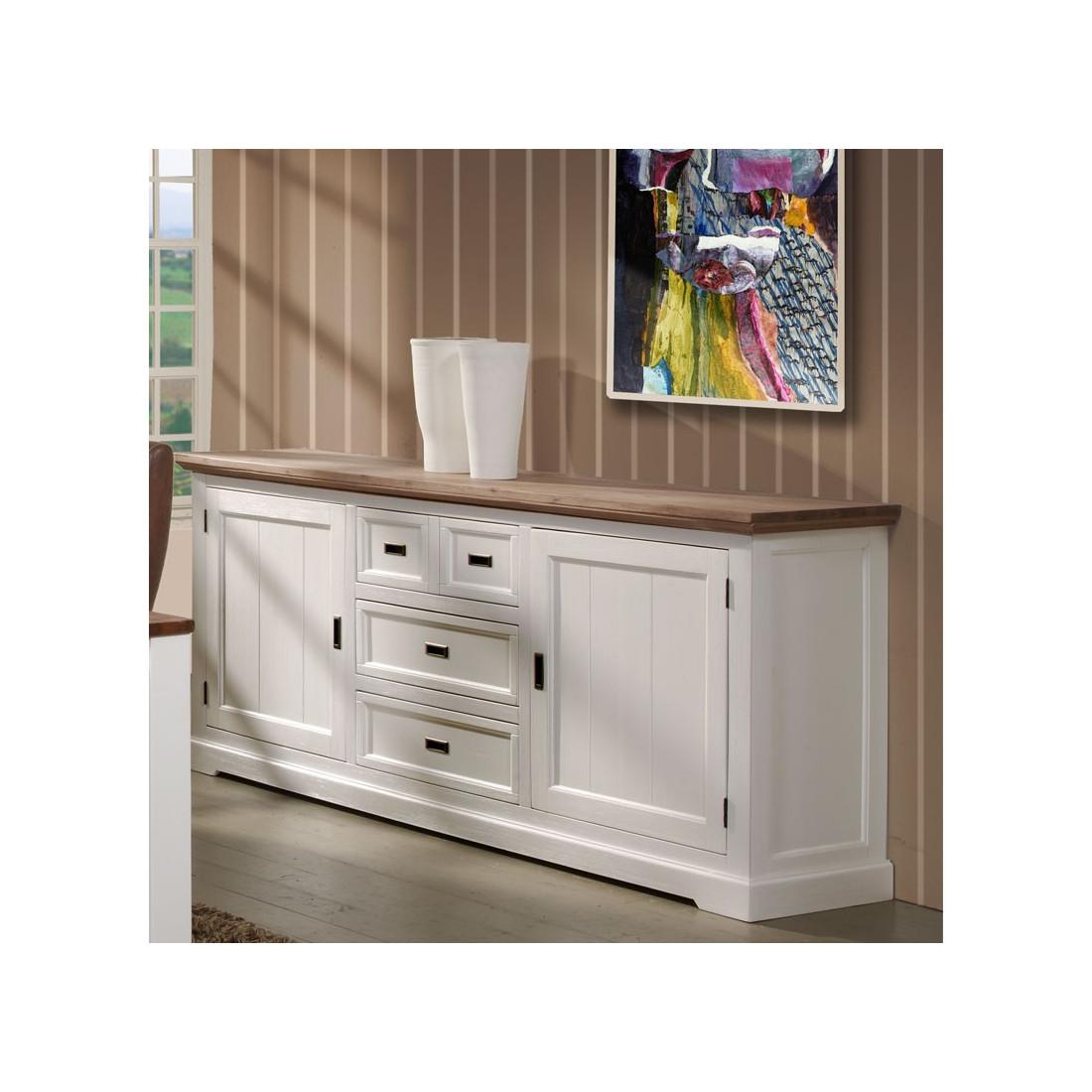 buffet 2 portes 4 tiroirs rio univers salle manger tousmesmeubles. Black Bedroom Furniture Sets. Home Design Ideas