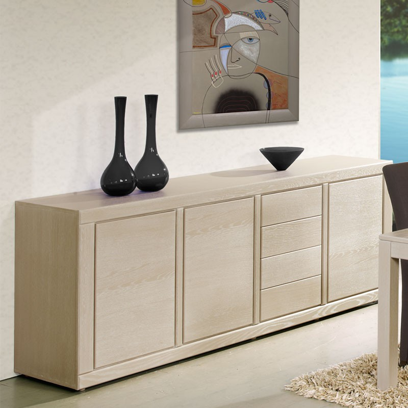 Buffet 3 portes 4 tiroirs irne univers salle manger tousmesmeubles - Buffet 4 portes 4 tiroirs ...