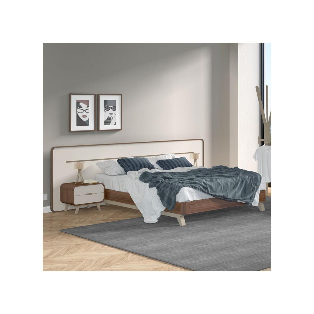 Cadre de lit t te de lit fifty univers de la chambre - Fabrication tete de lit en bois ...