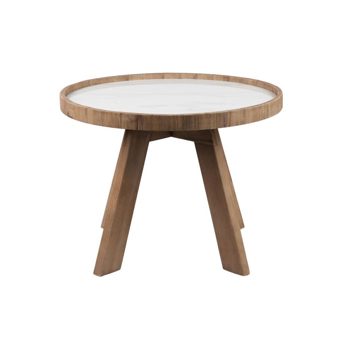 Sellette ronde bois et céramique MARBLE n u00b01 Univers Petits Meubles # Meuble Sellette Bois