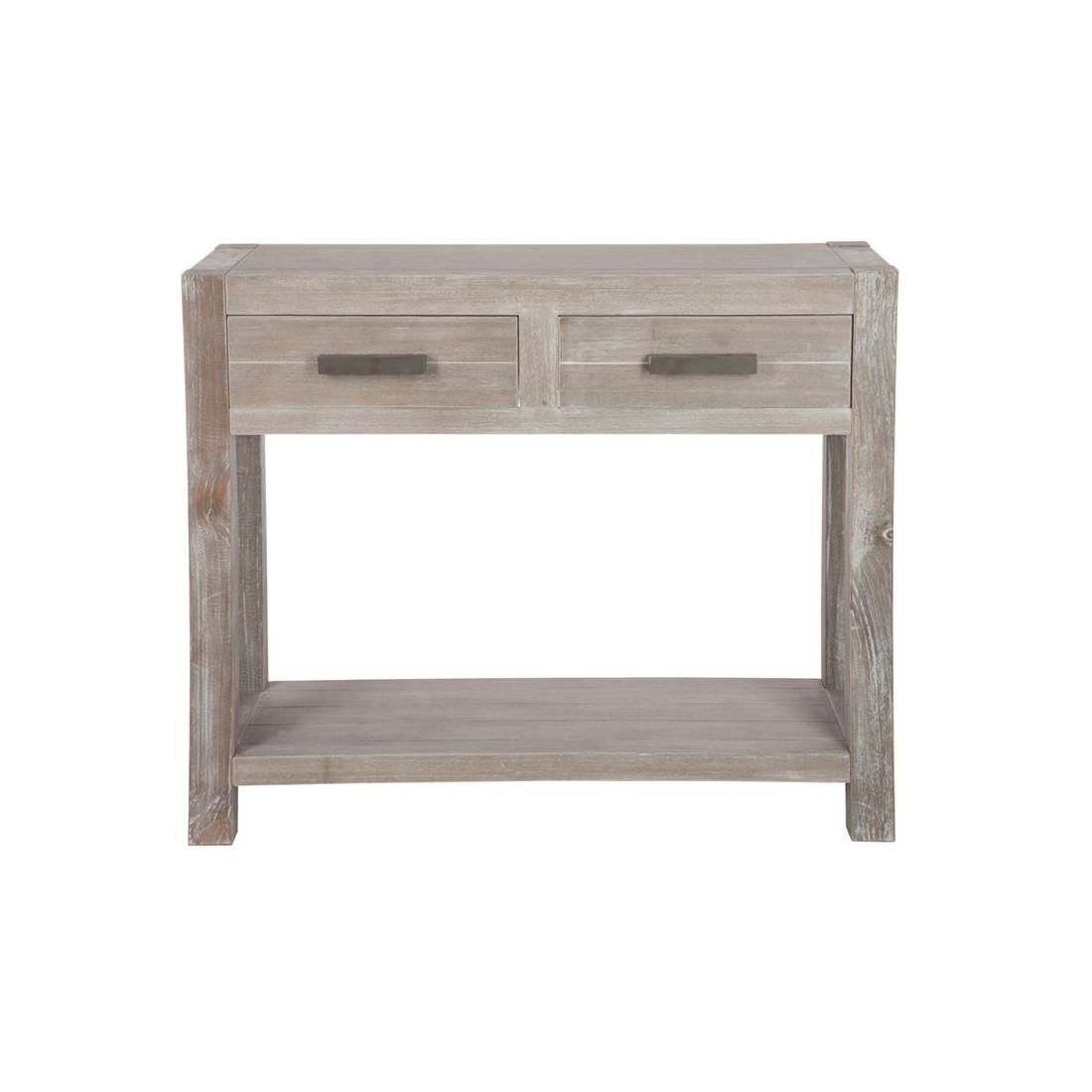console 2 tiroirs bois gris c rus leon univers petits. Black Bedroom Furniture Sets. Home Design Ideas