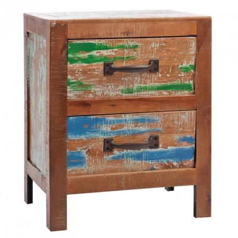 Table de chevet 2 tiroirs - ANGELE