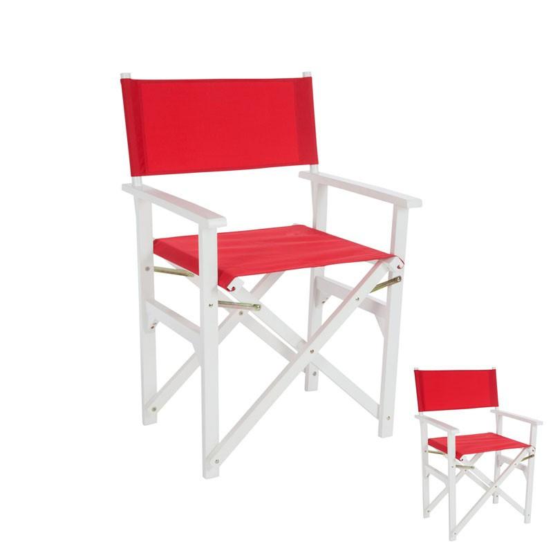 Duo de chaises pliantes Rouge - GIPSY