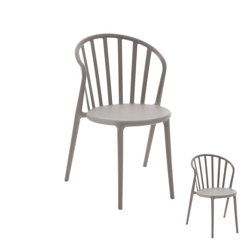 Duo de chaises Taupe - PUB