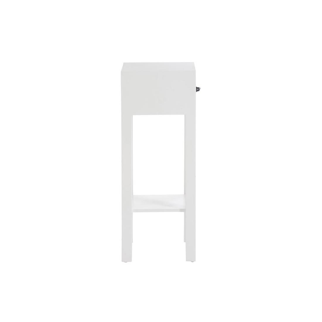 Sellette 1 tiroir bois blanc et naturel canon univers for Petit meuble tiroir blanc