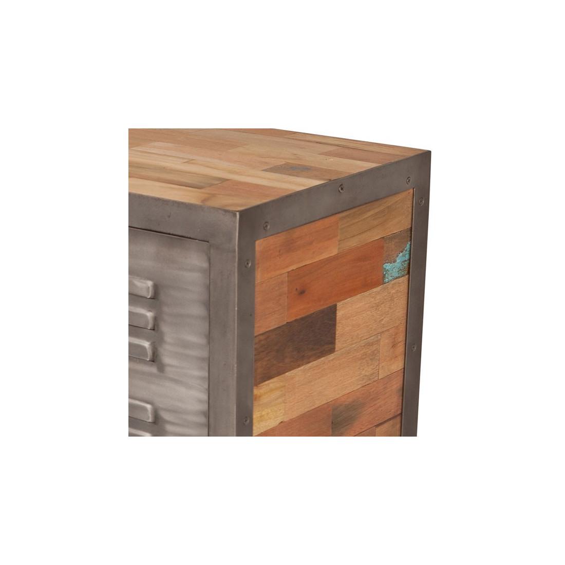 buffet 2 portes 3 tiroirs industriel fabrik univers salle manger. Black Bedroom Furniture Sets. Home Design Ideas