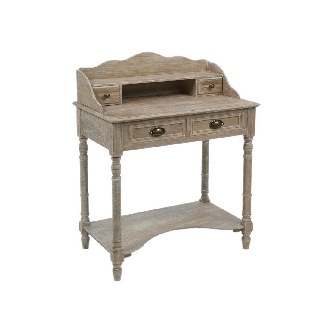 Bureau en bois valerie univers du bureau tousmesmeubles for Petit bureau bois