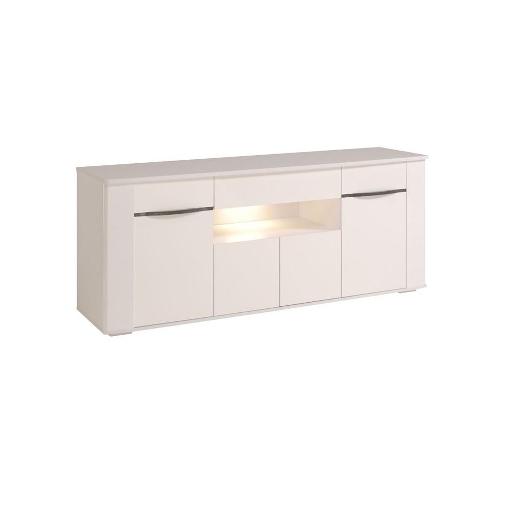 Buffet 4 portes 1 tiroir Laqué Blanc - SHINY