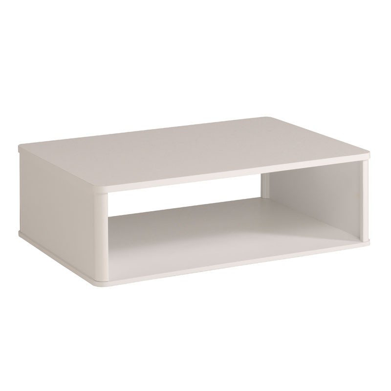 Table basse contemporaine bois laqu blanc shiny univers salon - Table basse laque blanc brillant ...