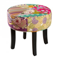 Pouf rond Patchwork - CATHY