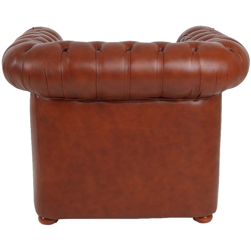 fauteuil cuir marron chesterfield univers du salon. Black Bedroom Furniture Sets. Home Design Ideas