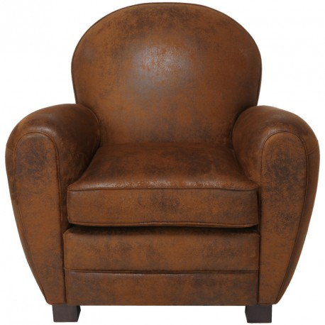 fauteuil club microfibre effet cuir enfield univers du salon assises. Black Bedroom Furniture Sets. Home Design Ideas
