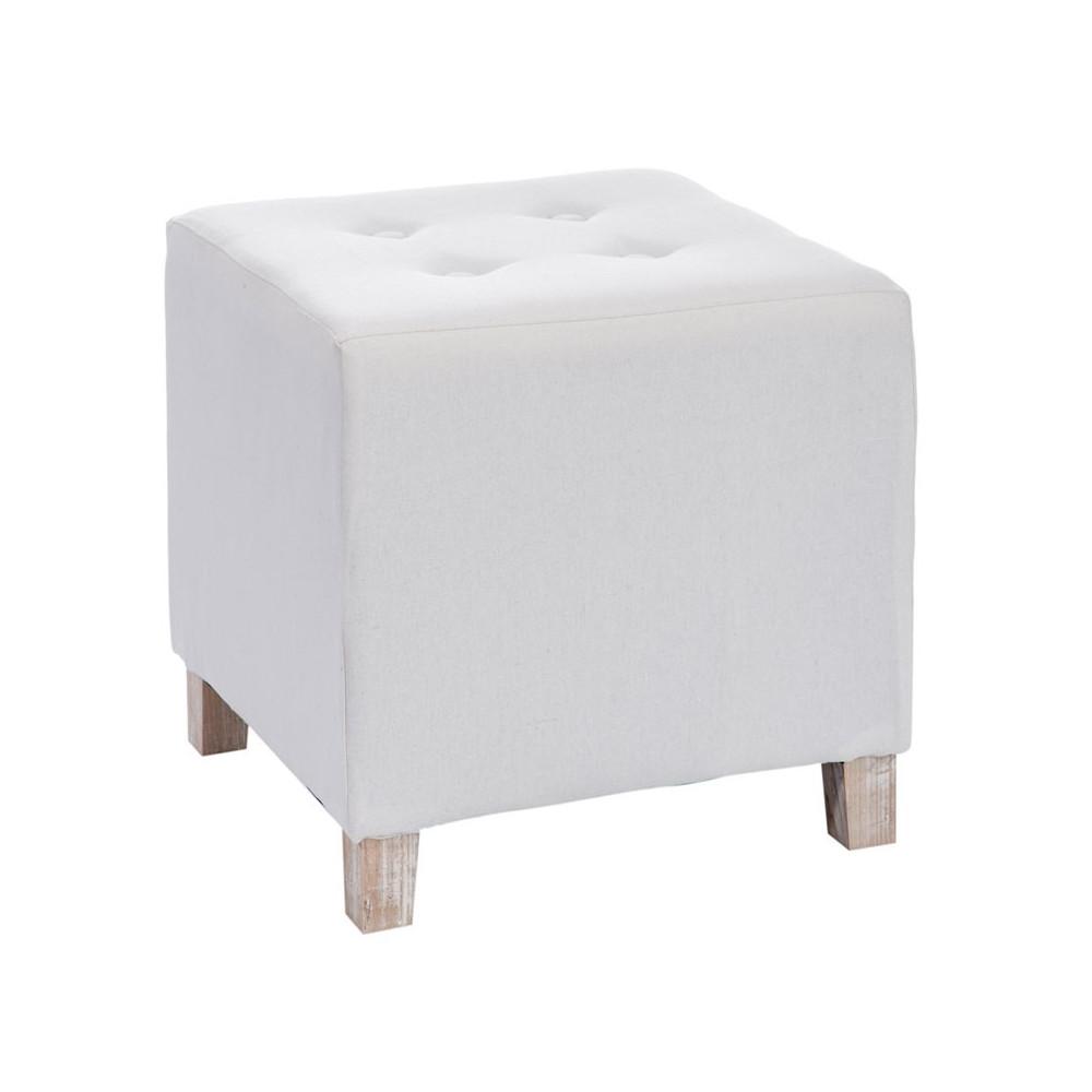 Duo de poufs carrés Blanc - FILLY