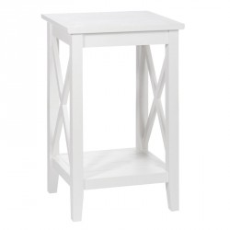 Sellette bois Blanc FERRET - Univers Salon et Petits Meubles : Tousmesmeubles