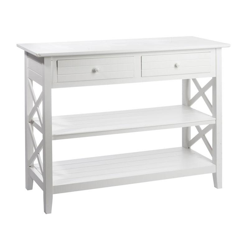 Console 2 tiroirs Blanc - FERRET