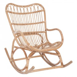 Rocking Chair Bois naturel - Univers Salon et Assises : Tousmesmeubles