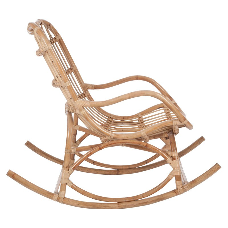 rocking chair bois rotin naturel ricky univers assises. Black Bedroom Furniture Sets. Home Design Ideas