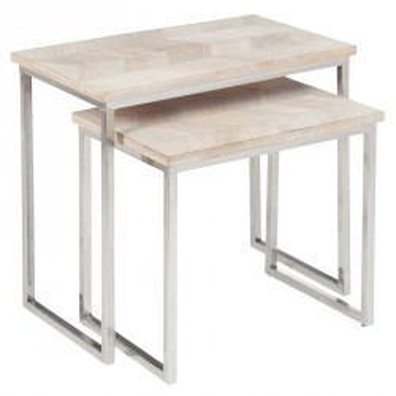 Tables d 39 appoint salon meubles maison tousmesmeubles - Table gigogne metal ...