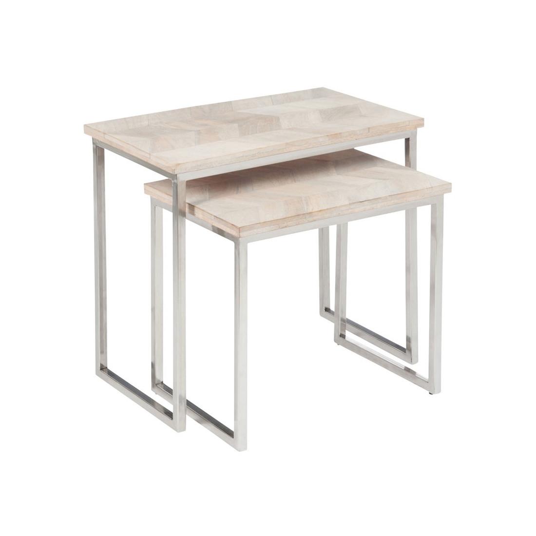 tables gigognes bois m tal chevy univers salon et petits meubles. Black Bedroom Furniture Sets. Home Design Ideas