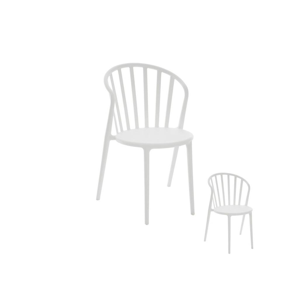 Duo de chaises plastique Blanc PUB - Univers Assises et Salle à Manger : Tousmesmeubles