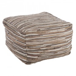 Pouf multicolore gris - Univers Salon et Assises : Tousmesmeubles