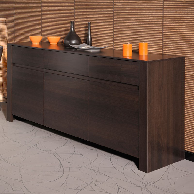 buffet 3 portes 1 tiroir bois caf barry univers salle manger. Black Bedroom Furniture Sets. Home Design Ideas